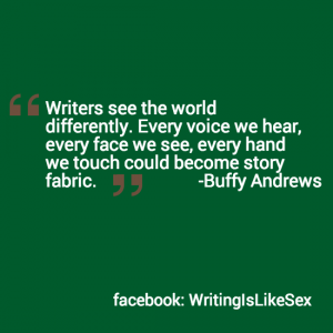 writers see the world differently